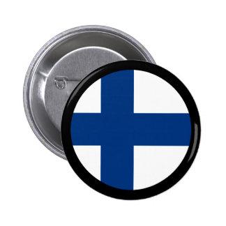 Finland flaggor standard knapp rund 5.7 cm