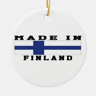Finland gjorde i designer rund julgransprydnad i keramik