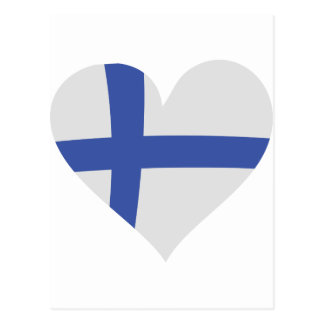 Finland hjärtasymbol vykort