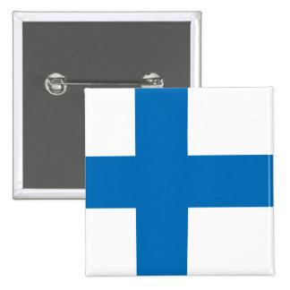 Finland högkvalitativ flagga standard kanpp fyrkantig 5.1 cm