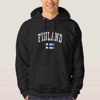 Finland högskolastil tröja med luva