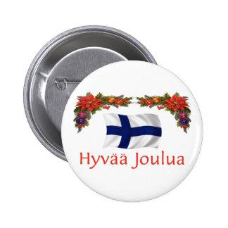 Finland Hyvaa Joulua (god jul) Knapp