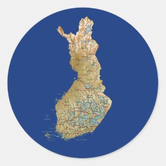 Finland kartaklistermärke runt klistermärke