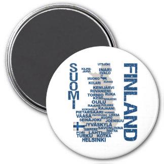 FINLAND KARTAmagnet Magnet Rund 7.6 Cm