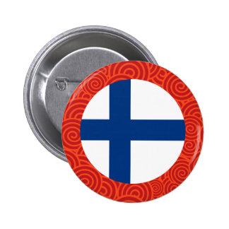 Finland rundaflagga standard knapp rund 5.7 cm