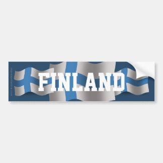 Finland som vinkar flagga bildekal