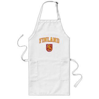 Finland + Vapensköld Långt Förkläde