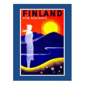 Finland vintage resoraffisch vykort