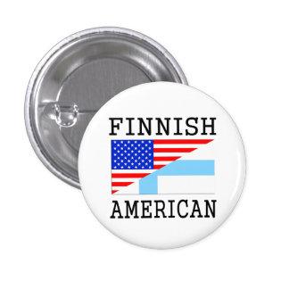 Finlandssvensk amerikanska flaggan mini knapp rund 3.2 cm