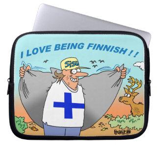 FINLANDSSVENSK ARVLAPTOP SLEEVE OM FINLAND