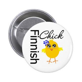 Finlandssvensk chick standard knapp rund 5.7 cm