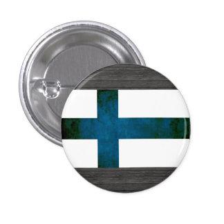 Finlandssvensk flagga för färgrik kontrast knappar