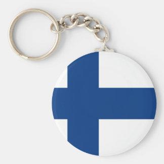 Finlandssvensk flagga rund nyckelring