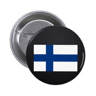 Finlandssvensk flagga standard knapp rund 5.7 cm