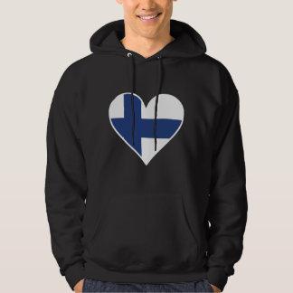Finlandssvensk flaggahjärta sweatshirt