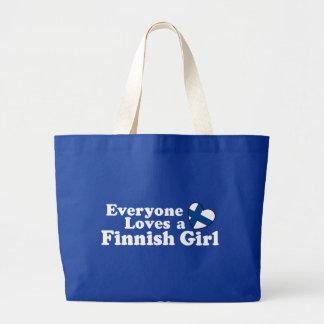 Finlandssvensk flicka tygkasse