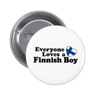 Finlandssvensk pojke standard knapp rund 5.7 cm