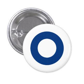 Finlandssvensk roundel mini knapp rund 3.2 cm