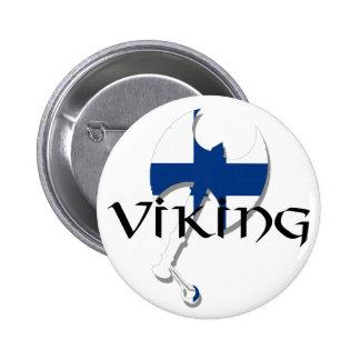 Finlandssvensk Suomi Viking för Finland flagga yxa Knapp Med Nål