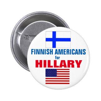 Finlandssvenska amerikaner för Hillary 2016 Standard Knapp Rund 5.7 Cm