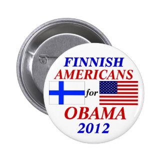 Finlandssvenska amerikaner för Obama Nål