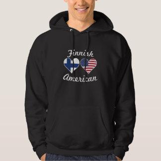 Finlandssvenska amerikanska flagganhjärtor munkjacka