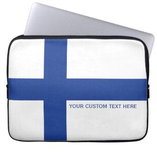 Finlandssvenska flaggaanpassningsbarlaptop sleeve