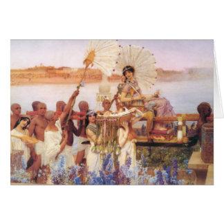 Finna av Moses, herr Lawrence Alma-Tadema Hälsningskort