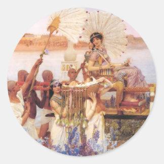 Finna av Moses, herr Lawrence Alma-Tadema Runt Klistermärke