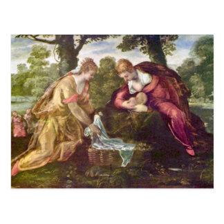 Finna av Moses vid Tintoretto Vykort