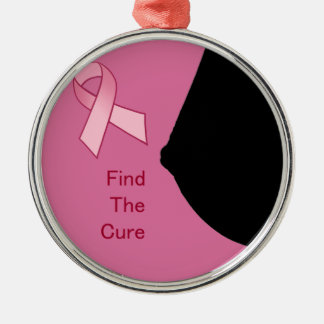 Finna boten - bröstcancermedvetenhet - det rosa julgransprydnad metall