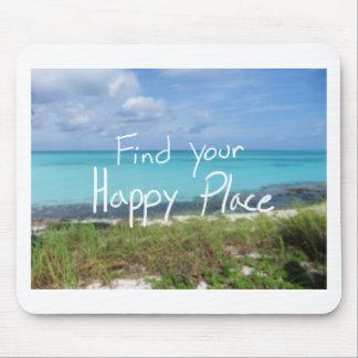 Finna ditt lyckliga ställe musmatta