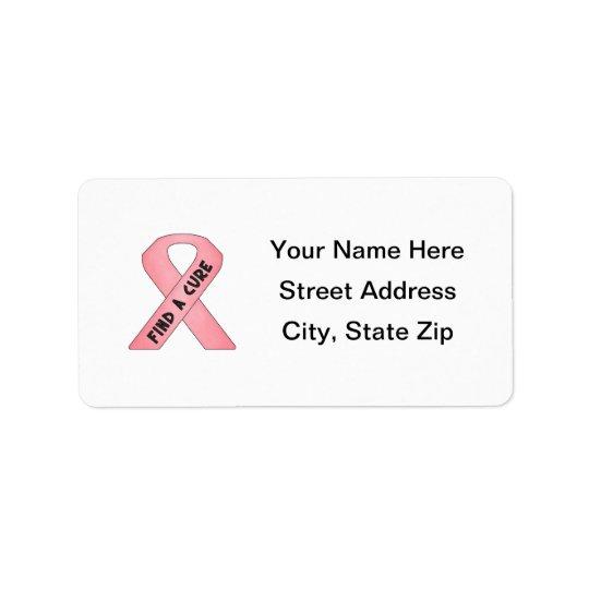 Finna en bot (det rosa bandet) adressetikett