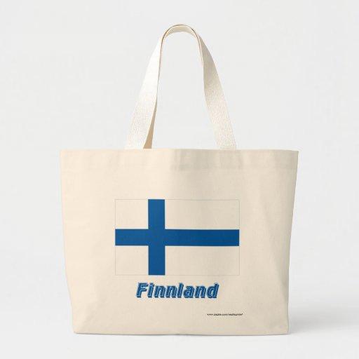 Finnland Flagge mit Namen Kassar