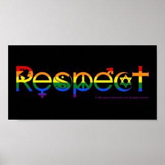 Finns till samtidigt med gay pride för respekt poster