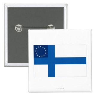 Finska-Amerikan flagga Knapp Med Nål
