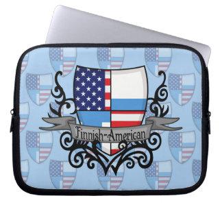 Finska-Amerikanen skyddar flagga Laptop Sleeve