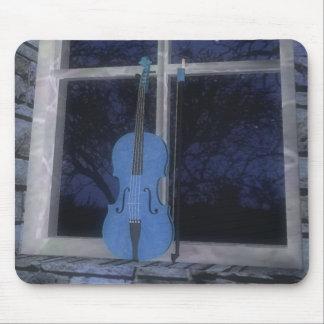 Fiol i fönstret: Blåttversion: Mousepad Musmatta