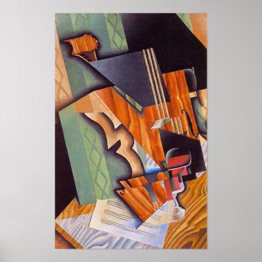 Fiol och exponeringsglas, vid Juan Gris Affischer