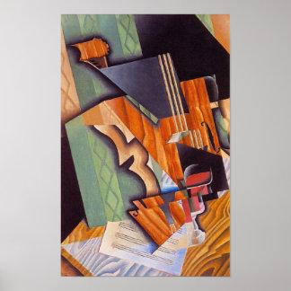 Fiol och exponeringsglas, vid Juan Gris Poster