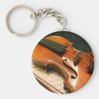 Fiolkonsert Keychain Rund Nyckelring