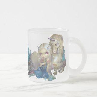 Fiona och för unicornen mugg