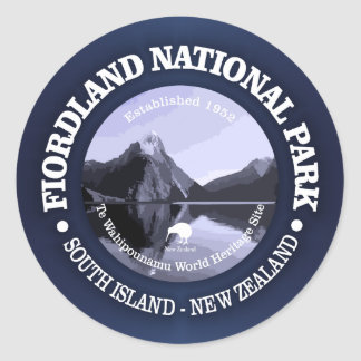 Fiordland nationalpark runt klistermärke