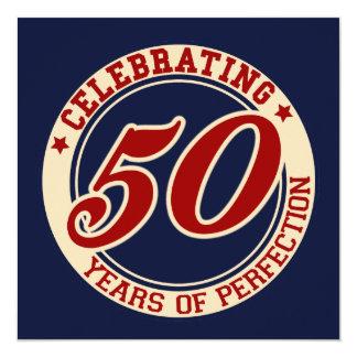 Fira 50 år av perfektion fyrkantigt 13,3 cm inbjudningskort