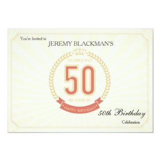 Fira 50 år födelsedaginbjudan 12,7 x 17,8 cm inbjudningskort