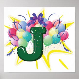 Fira affischen för brev J Poster