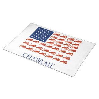 Fira amerikanska flagganhumret bordstablett