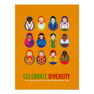 Fira den mångkulturella dagen för mångfald poster