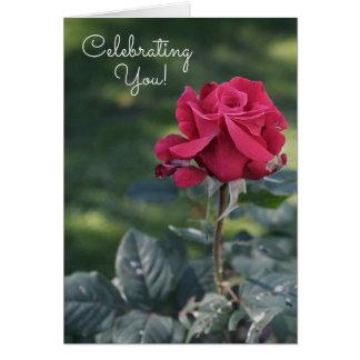 Fira ditt inre skönhetfödelsedagkort hälsningskort