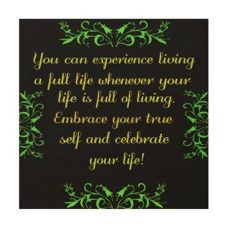 Fira ditt liv 2 trätavla